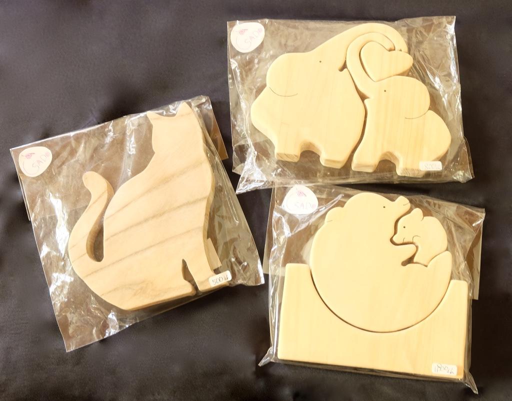 木製パズル&置物